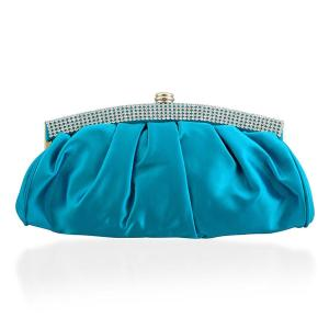 J Francis, Satin -Turquoise Satin Style Clutch Bag, £ 9.99
