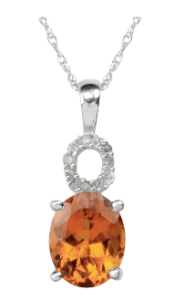 Beautiful Madeira Citrine and diamond pendant, you'd be as happy as Larry with this in your Christmas stocking.