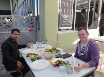 Amit and Paul enjoying luch