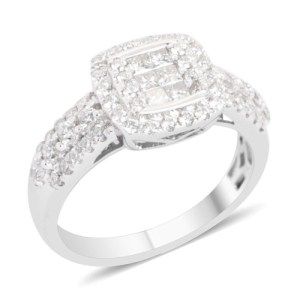 Find classic diamond rings at The Jewellery Channel
