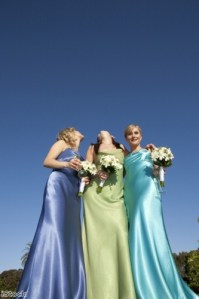 Modern bridesmaids: Different colours can help each girl stand out Photo