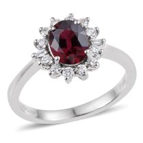 Rhapsody Rare Rubelite and Diamond Ring
