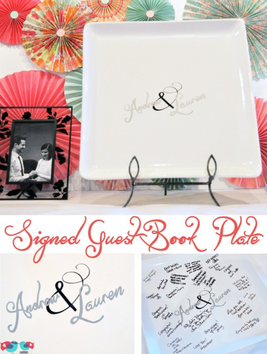 DIY Guest Book Plate using a Sharpie @ The Love Nerds