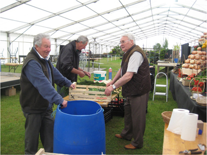 Suffolk Show 2013 - setting up the T&M stand