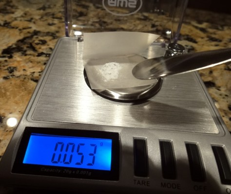 The weighing.