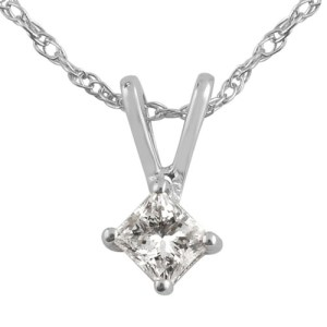 ILIANA 18K W Gold Diamond Pendant With Chain