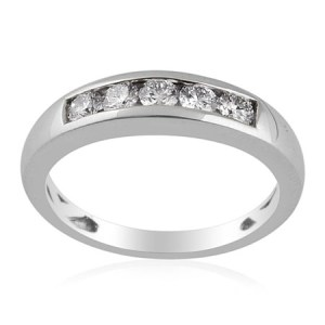 RHAPSODY Diamond Platinum Band Ring