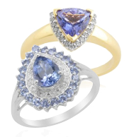 Tanzanite rings showing the new trend in gemstone cuts