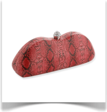 Red Snake Clutch Bag