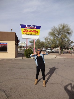Stacey enjoying Tucson