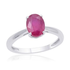 AFRICAN RUBY 1.75 CARATS SOLITAIRE RING IN