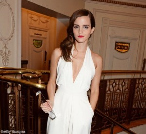 Emma looked stunning in a white jumpsuit