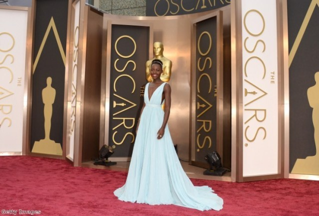 Lupita showed how glamorous the pastel trend can be