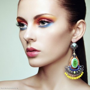 Add a splash of bright colour with on-trend eye shadow