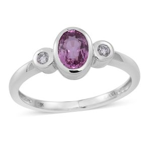 Iliana Pink Sapphire and Diamond Ring