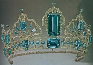 Brazilian Aquamarine Tiara (1971) by Garrard for Queen Elizabeth II 1