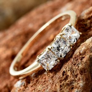 J Francis - Made with SWAROVSKI ZIRCONIA Trilogy Ring in 9K Gold