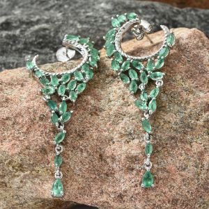 Kagem Zambian Emerald Chandelier Earrings