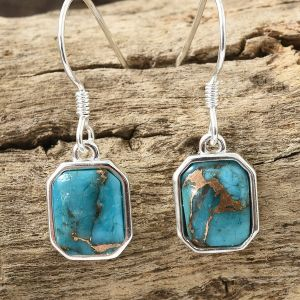 Mojave Blue Turquoise Hook Earrings