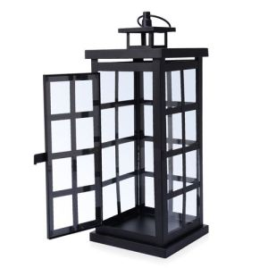 Square Grid Design Black Colour Cage Lantern