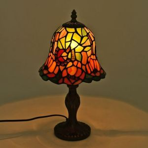 Tiffany Style Table Lamp with Stained Glass Mosaic