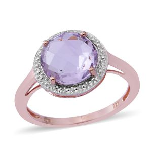 Rose De France Amethyst Solitaire Ring