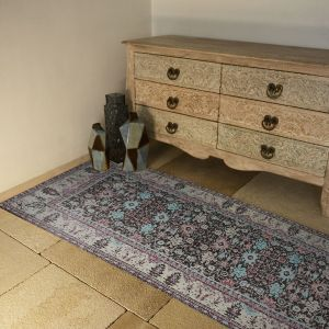 Premium Jacquard Woven Cotton Chenille Antique Finish Area Carpet