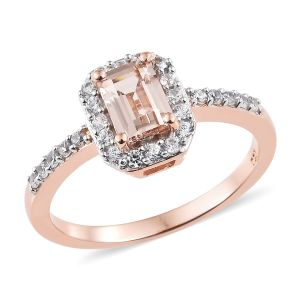 pink and rose gold ring