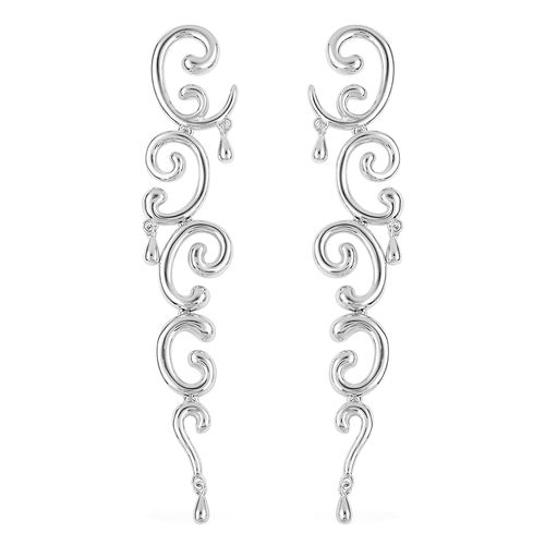 LucyQ Rhodium Plated Sterling Silver Push Back Earrings
