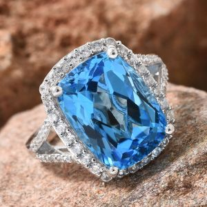 Colours of topaz - Blue topaz ring