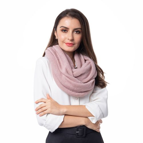 Designer Inspired-Pink Colour Infinity Scarf