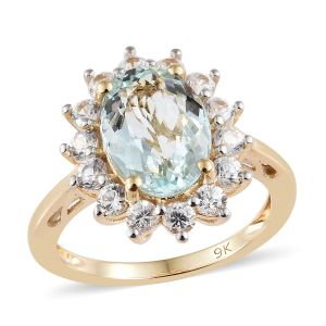 Aquamarine ring in winter stones