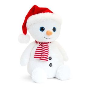 Snowman with Red Hat and Scarf
