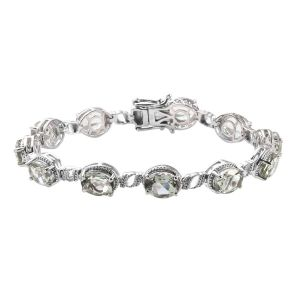 Super Auction - Prasiolite Bracelet (Size 7.5) in Platinum Overlay Sterling Silver