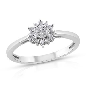 0.20 Carat Diamond Cluster Ring in 9K White Gold