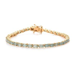 Grandidierite Tennis Bracelet in Gold Plated Sterling Silver