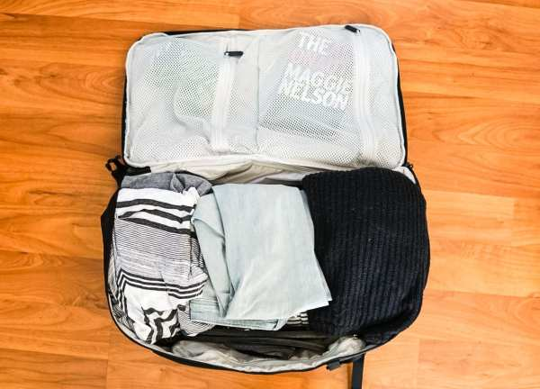 fold clothes for packing