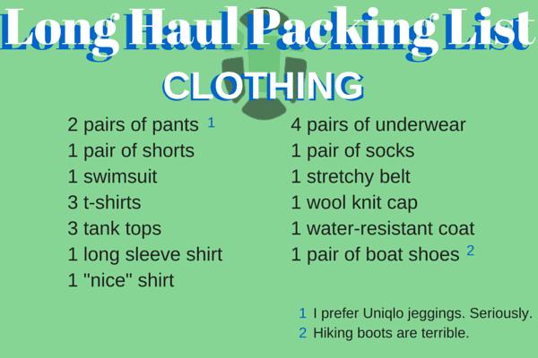 long-term packing list