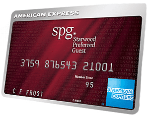 Startwood Preferred Guest American Express card