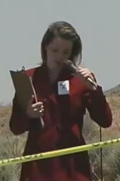 Bree Pavey as Tiffany Heinsbocker in War of the Worlds Breaking News