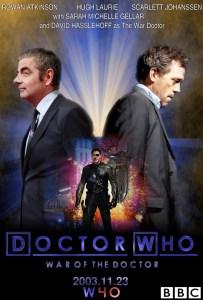 Hugh Laurie, Rowan Atkinson and David Hasslehoff as Doctor Who