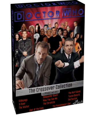 DVD Box Art from hypothetical Doctor Who starring Hugh Laurie and Rowan Atkinson