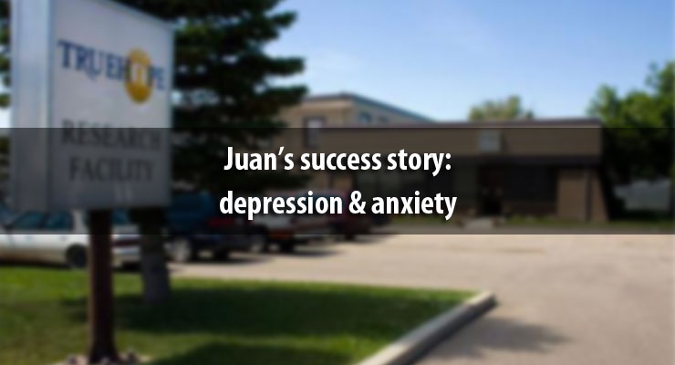 Juan's success story: depression and anxiety