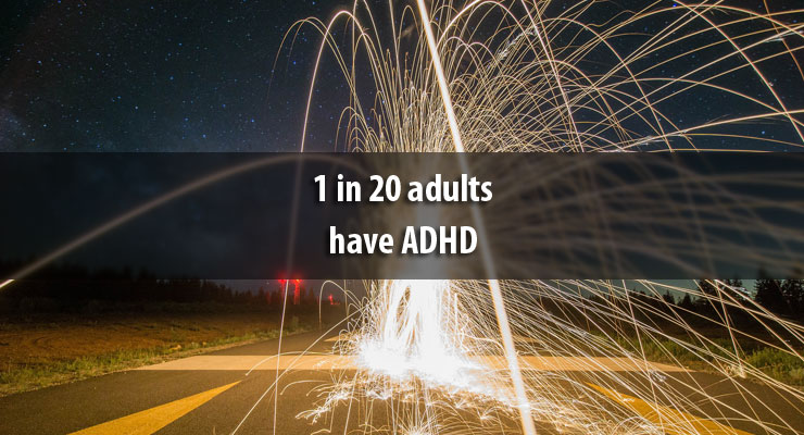1 in 20 adults have ADHD