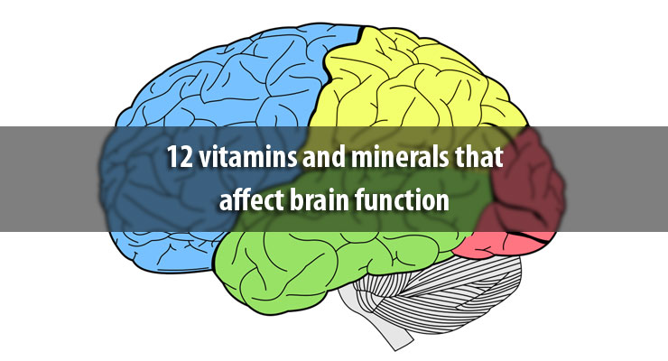 12 vitamins and minerals that affect brain function