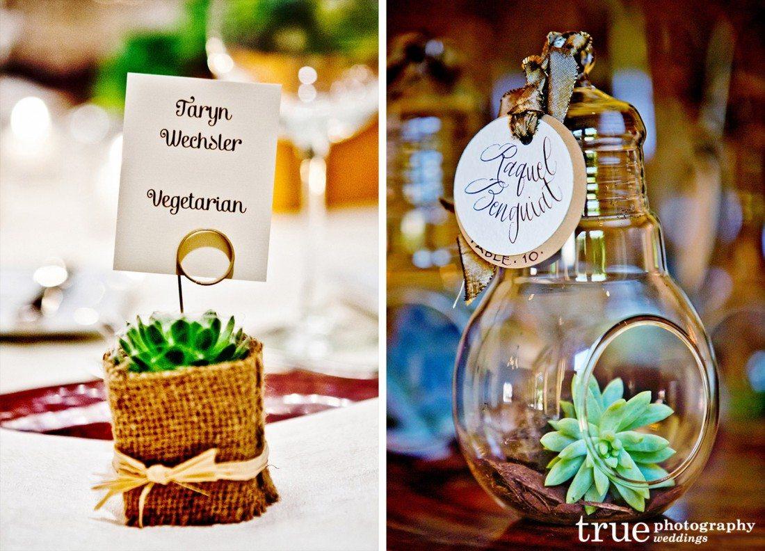 going green succulent wedding trends succulent wedding favors 16 Succulent place cards and wedding favors