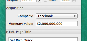 Facebook acquisition for 2 Billion