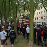 USP-Marsch von der Michelwiese zum Stadion