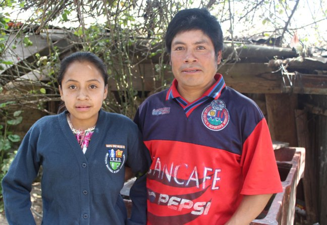 CFCA sponsored child Wendy and her father in Guatemala