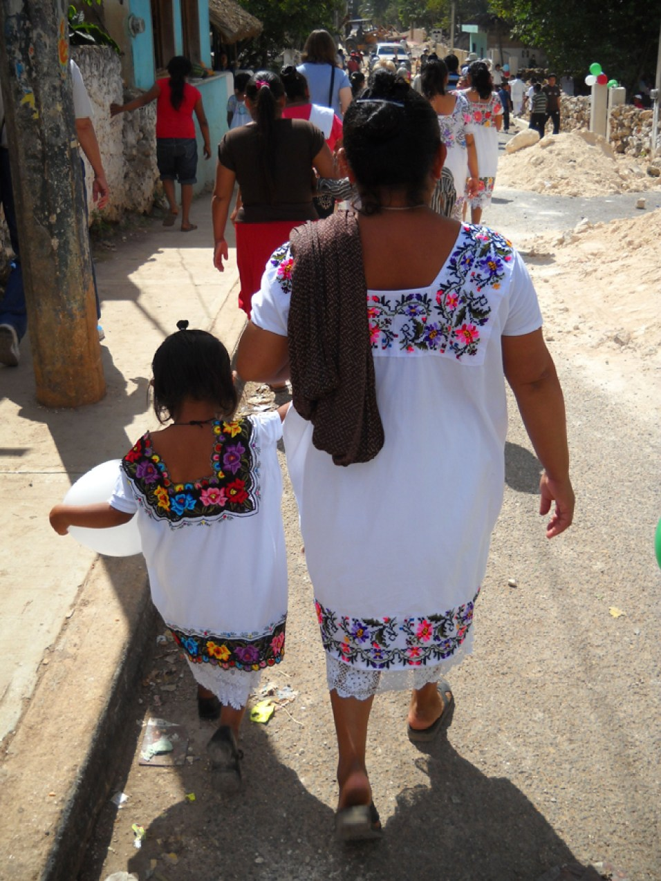 Mother and daughter in Merida, Mexico.